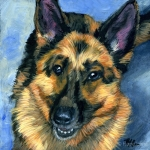 Rio the German Shepherd Portrait by Hope Lane