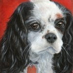 Morgan, portrait of a King Charles Cavalier Spaniel by Hope Lane
